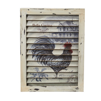 Rooster Window Shutter Wall Decor - SKU #7025