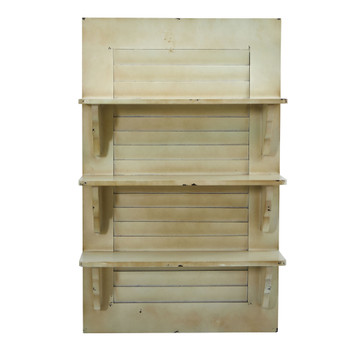 31.75 Vintage Window Shutter Shelving Wall Decor - SKU #7027