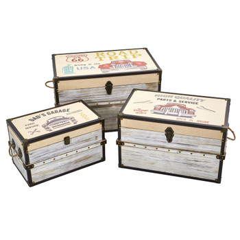 Classic Car Collection Trunk and Storage Boxes Set of 3 - SKU #7033-S3