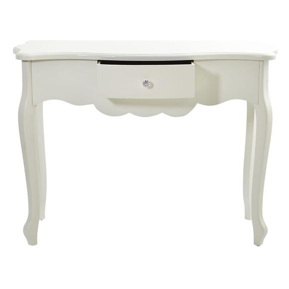 45.5 Vintage White Desk with Drawer - SKU #7035 - 1