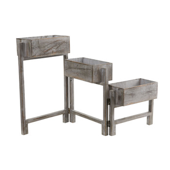 3.5 Gray Washed Expandable Decorative Planter - SKU #7041