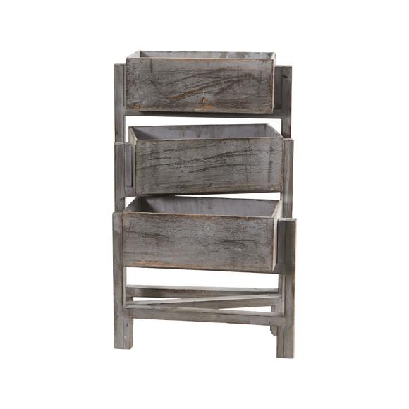 3.5 Gray Washed Expandable Decorative Planter - SKU #7041 - 1