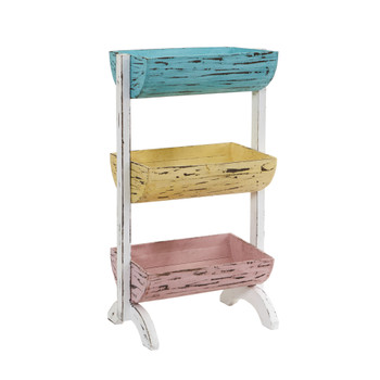 23 Three Shelf Farmhouse Multipurpose Stand/Planter - SKU #7043