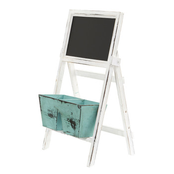 26 Farmhouse Multipurpose Bin and Chalkboard Stand - SKU #7044