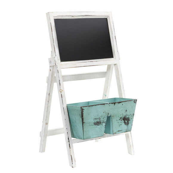 26 Farmhouse Multipurpose Bin and Chalkboard Stand - SKU #7044 - 2