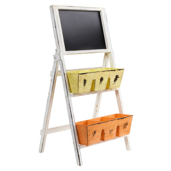 31 Farmhouse Multipurpose Bin and Chalkboard Stand - SKU #7045