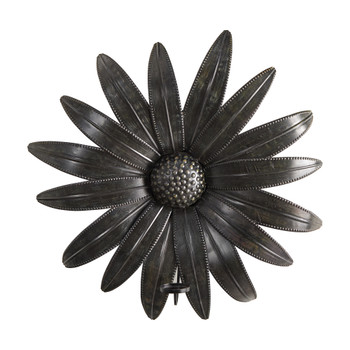 30 x 30 Brushed Metal Daisy Flower Sconce Candle Holder Wall Art Decor - SKU #7064