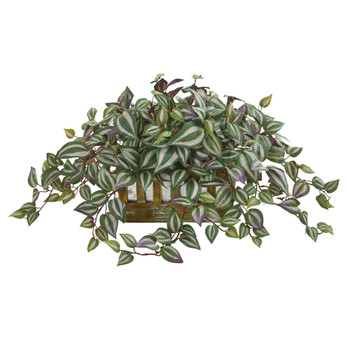 Wandering Jew Artificial Plant in Decorative Planter - SKU #8056