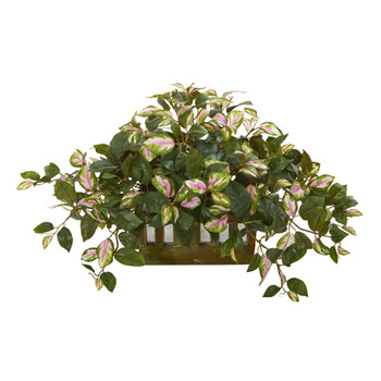 16 Hoya Artificial Plant in Decorative Planter - SKU #8057