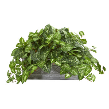Nepthytis Artificial Plant in Stone Planter - SKU #8059
