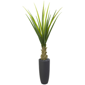 4.5 Agave Artificial Plant in Gray Planter - SKU #8081