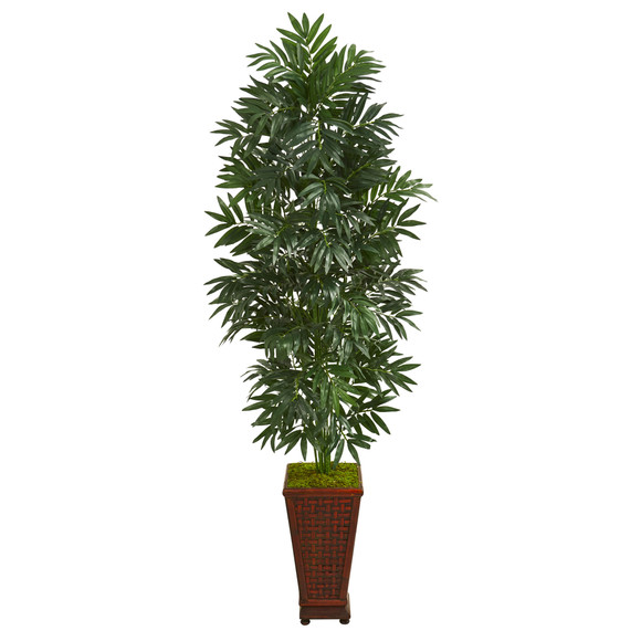 5.5 Bamboo Palm Artificial Plant in Decorative Planter - SKU #8082