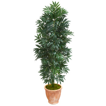 5 Bamboo Palm Artificial Plant in Terra cotta Planter - SKU #8084