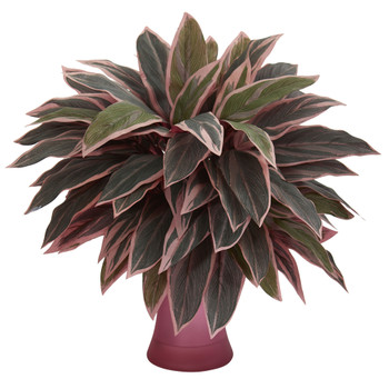 Caladium Artificial Plant in Rose Vase - SKU #8109