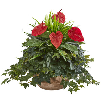 Anthurium Artificial Plant in Terracota Planter - SKU #8135