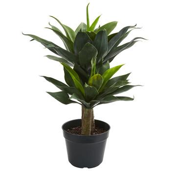 29 Double Agave Succulent Artificial Plant - SKU #8162