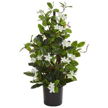 24 Stephanotis Artificial Climbing Plant - SKU #8163-WH