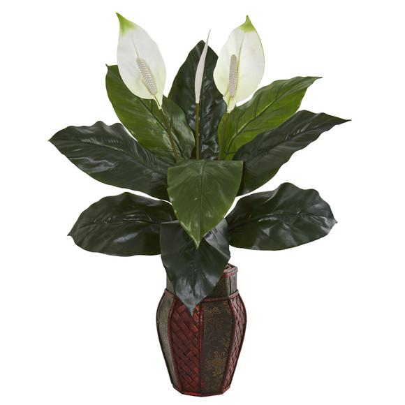 Spathifyllum Artificial Plant in Decorative Planter - SKU #8164