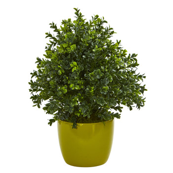 Sweet Grass Artificial Plant in Green Vase - SKU #8165