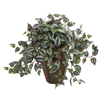 Wandering Jew Artificial Plant in Decorative Plantert - SKU #8167