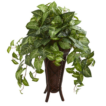 Nepthytis Artificial Plant in Stand Planter - SKU #8187
