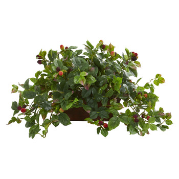 Raspberry Artificial Plant in Decorative Planter - SKU #8214