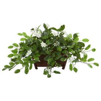 Mix Stephanotis Artificial Plant in Decorative Planter - SKU #8216