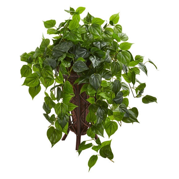 Philodendron Artificial Plant in Stand Planter - SKU #8217