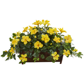 Hibiscus Artificial Plant in Decorative Planter - SKU #8219