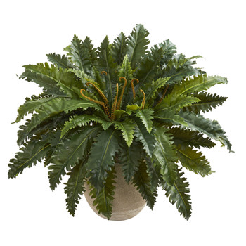 Marginatum Artificial Plant in Sand Colored Planter - SKU #8222