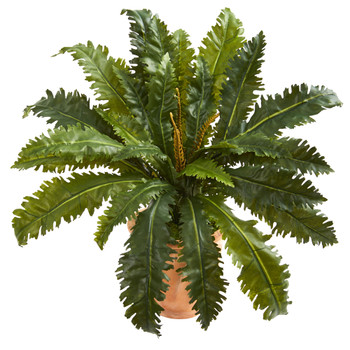 Marginatum Artificial Plant in Terra Cotta Planter - SKU #8224