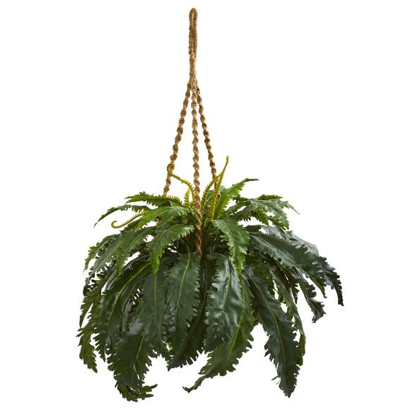 Marginatum Artificial Plant in Hanging Basket - SKU #8226
