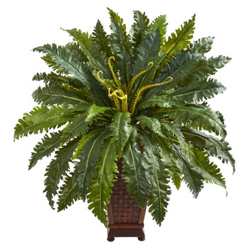 Marginatum Artificial Plant in Decorative Planter - SKU #8227