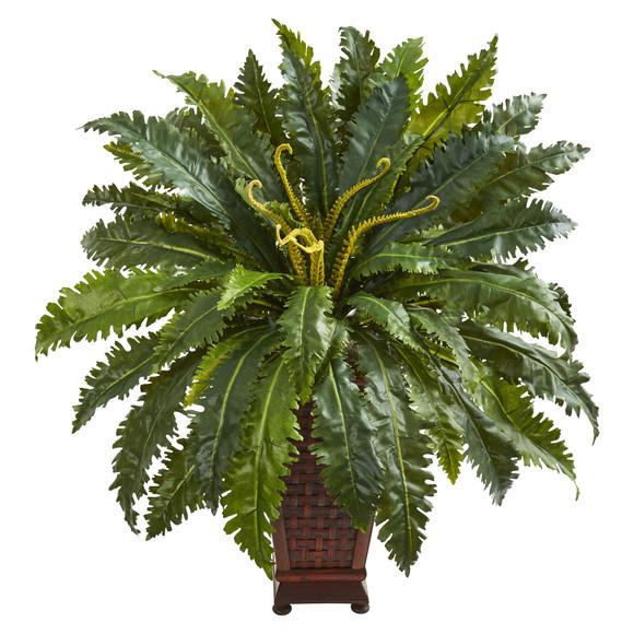 Marginatum Artificial Plant in Decorative Planter - SKU #8227
