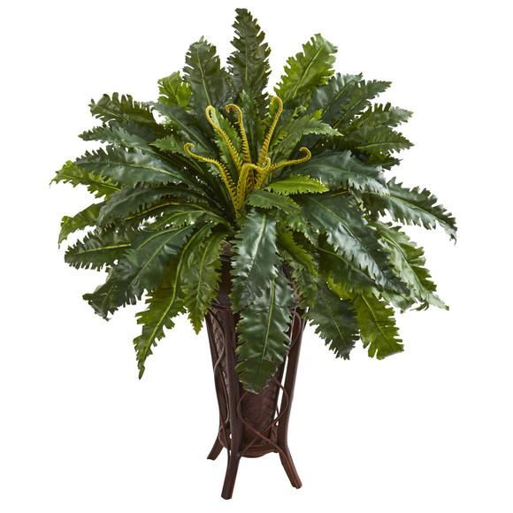 Marginatum Artificial Plant in Stand Planter - SKU #8228