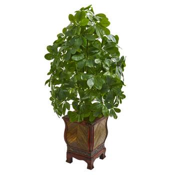 Schefflera Artificial Plant in Decorative Planter Real Touch - SKU #8230