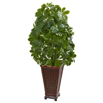 Schefflera Artificial Plant in Decorative Planter Real Touch - SKU #8231