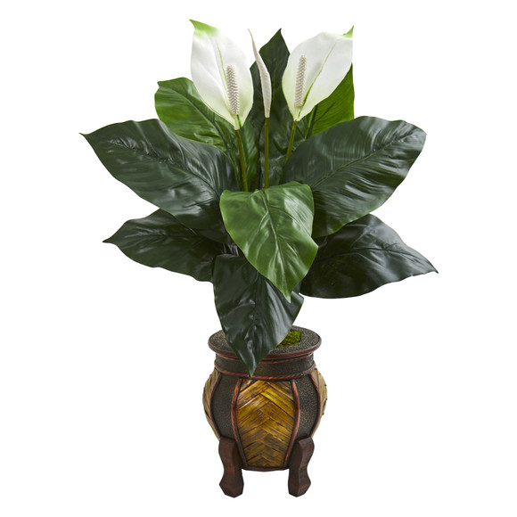 Spathifyllum Artificial Plant in Decorative Planter - SKU #8235
