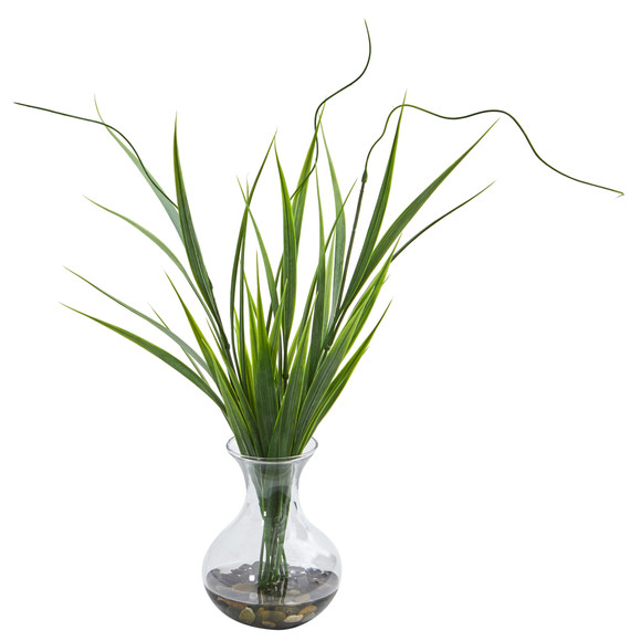 Grass Artificial Plant in Vase Set of 3 - SKU #8246-S3 - 1