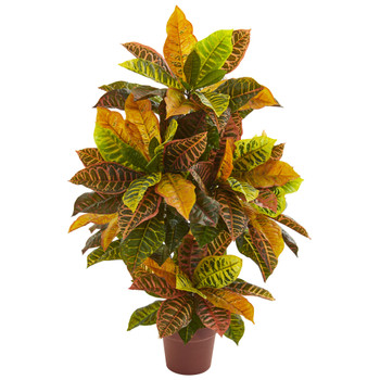 39 Croton Artificial Plant Real Touch - SKU #8313