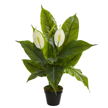 26 Spathiphyllum Artificial Plant Real Touch - SKU #8318