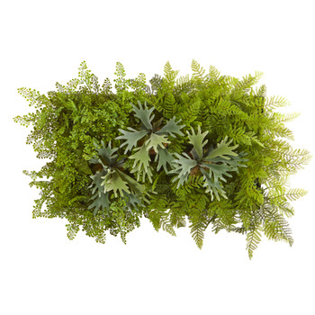 38 x 23 Staghorn and Fern Artificial Living Wall - SKU #8320