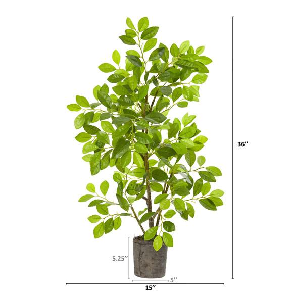 3 Ficus Artificial Tree in Planter - SKU #8329 - 1