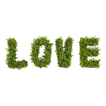 LOVE Boxwood Artificial Wall Decoration Indoor/Outdoor - SKU #8333