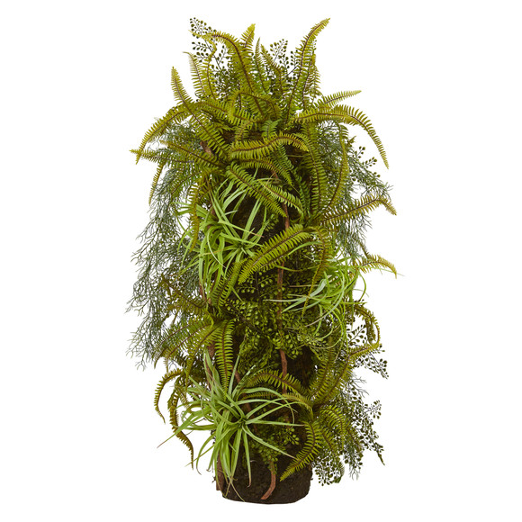 40 Mixed Forest Foliage Artificial Plant on Trunk - SKU #8334