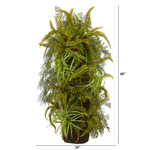 40 Mixed Forest Foliage Artificial Plant on Trunk - SKU #8334 - 1