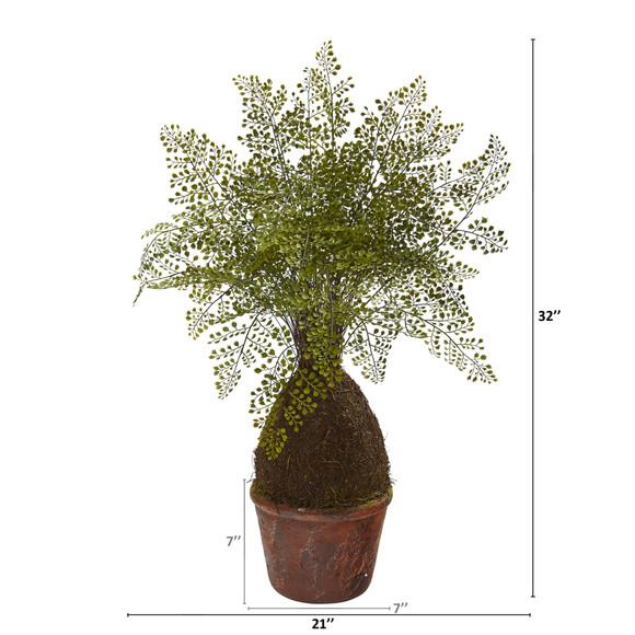 32 Maiden Hair Fern Artificial Plant in Decorative Planter - SKU #8336 - 1
