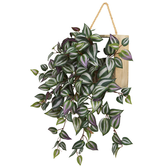 20 Wandering Jew Artificial Plant in Decorative Hanging Frame - SKU #8372 - 1