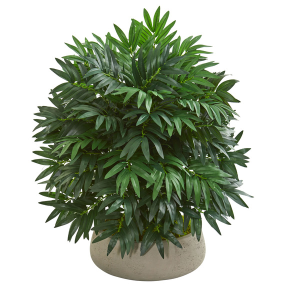 30 Bamboo Palm Artificial Plant in Stone Planter - SKU #8396