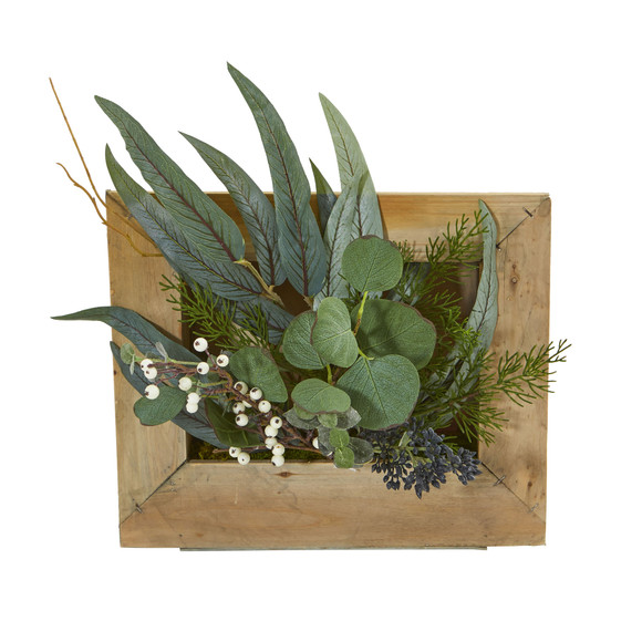 Eucalyptus Artificial Plant in Hanging Frame - SKU #8404